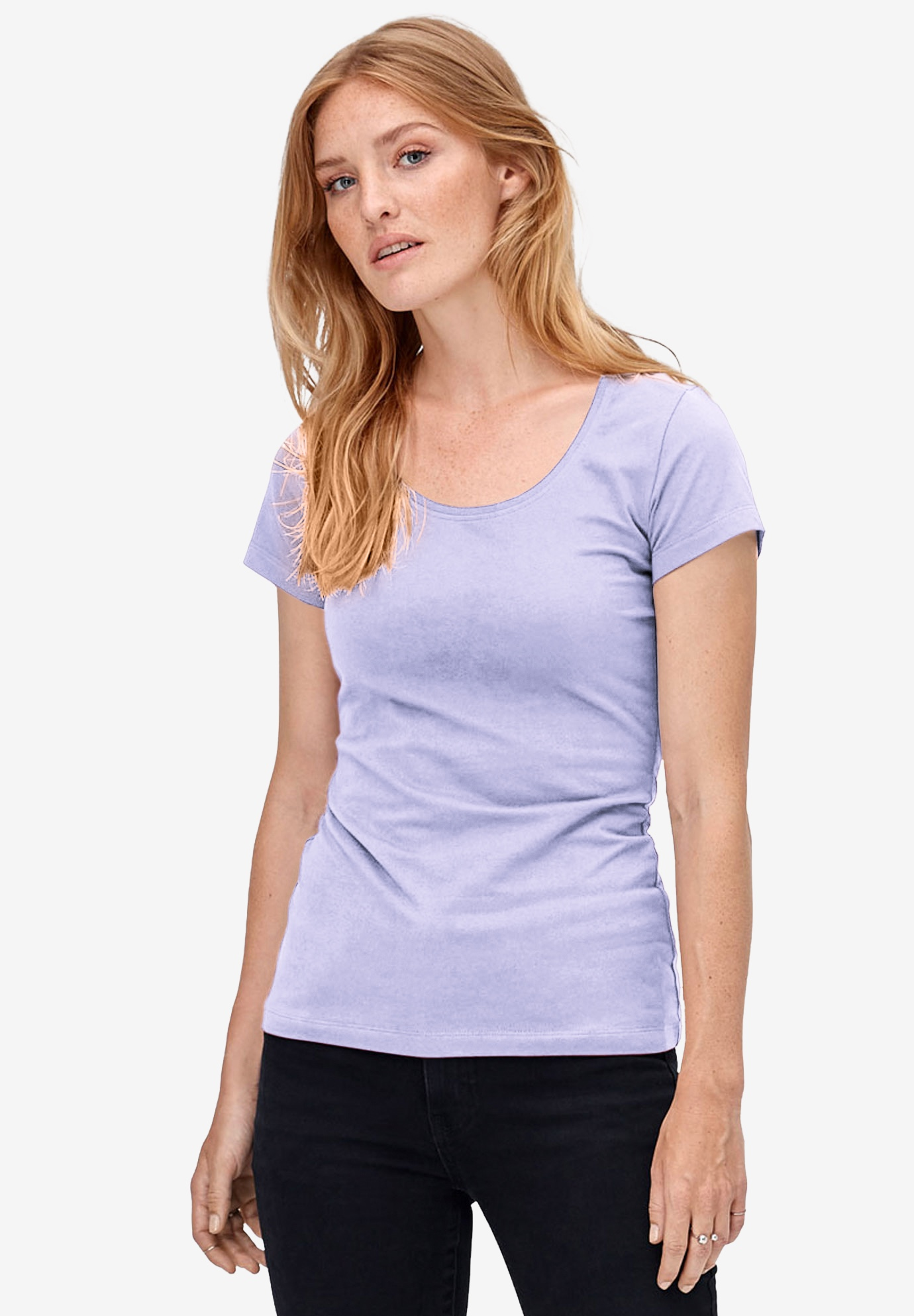 Scoop Neck Tee,