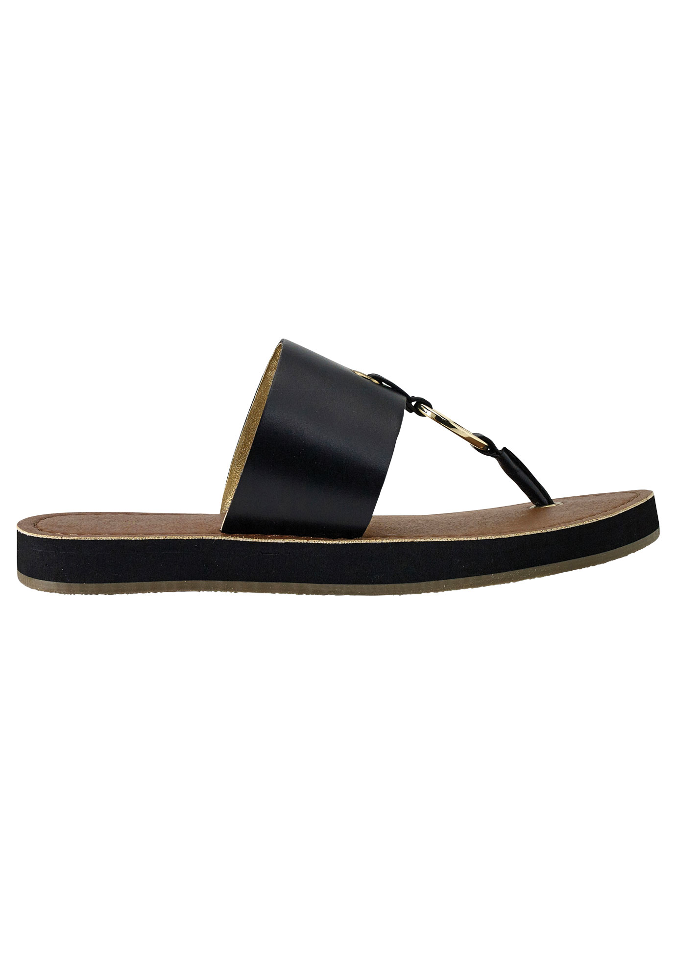 Thong Sandals by ellos®, BLACK, hi-res