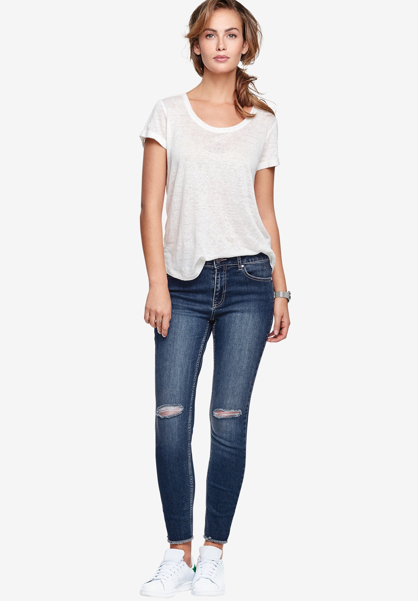 Ripped Knee Skinny Jeans by ellos®,