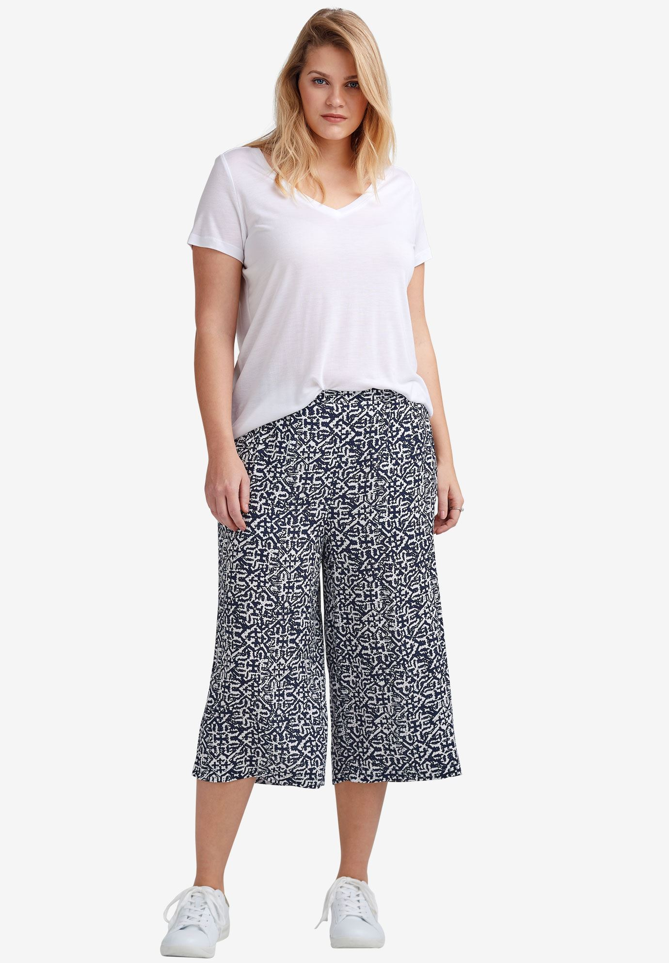 Cropped Soft Wide Leg Pants by ellos®,