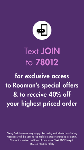 Text JOIN to 78012 for exclusive access to special offers, new arrivals and more!