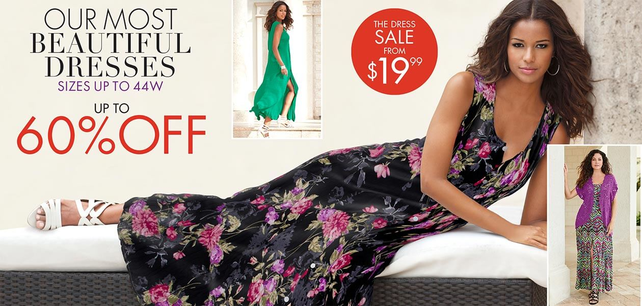 Our most beautiful dresses sizes up to 44W up to 60% off from $19.99. Shop now.