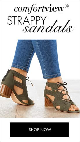 Comfortview Strappy Sandals. Shop now.