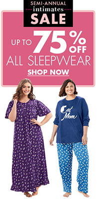 up to 75% off all Sleepwear