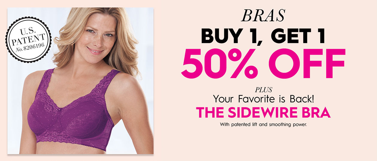 Buy 1, Get 1 50% off + The Sidewire Bra is back