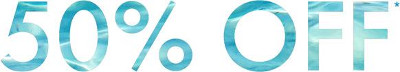 50% Off*