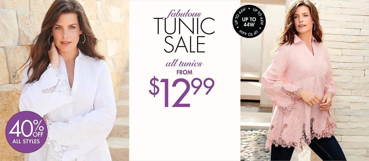 fabulous tunic sale: all tunics from $12.99