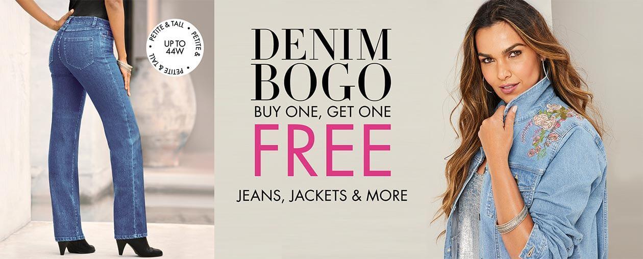 Denim BOGO: Buy 1, Get 1 Free jeans, jackets and more