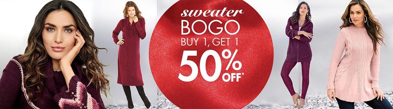 Sweater BOGO buy 1, get 1 50% off