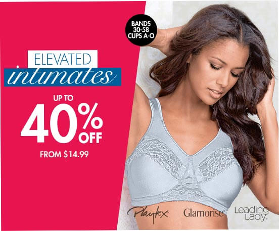 elevated intimates up to 40% off from $14.99