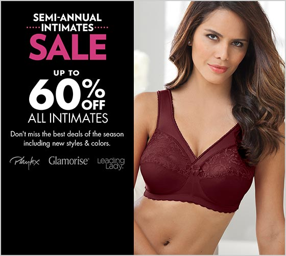 Semi-Annual Intimates Sale up to 60% off all intimates