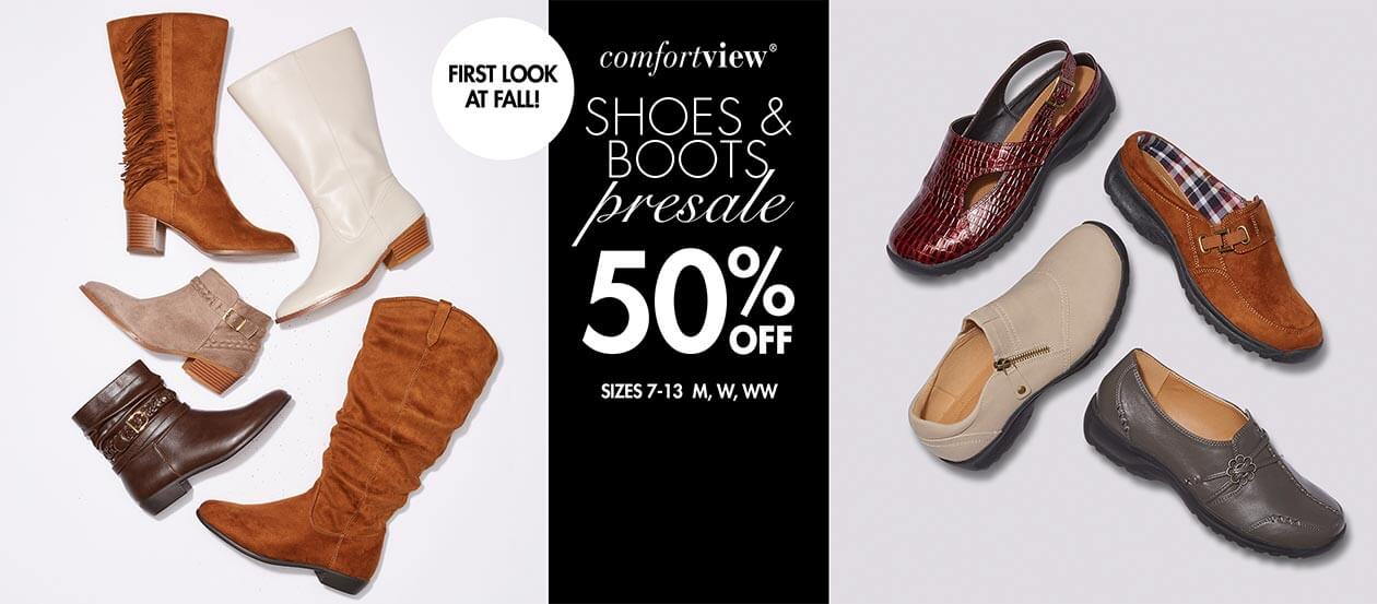Comfortview Shoes and boots presale 50% off