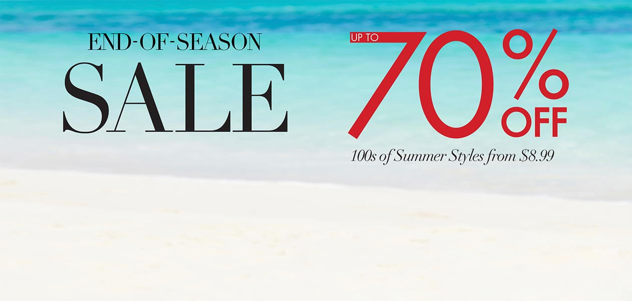End-of-Season Sale up to 70% off: hundreds of summer styles from $8.99