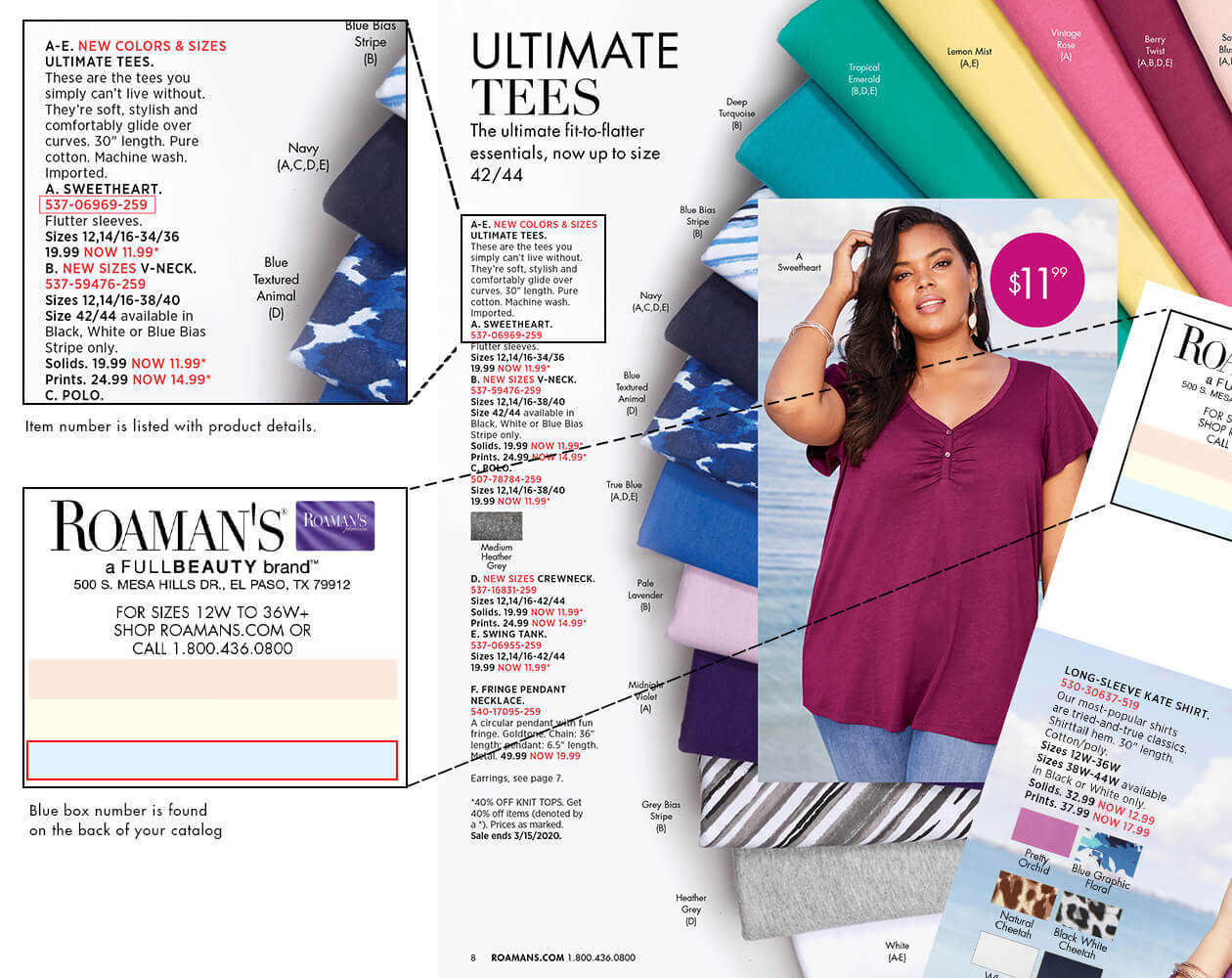 Roaman's Catalog Quick Order